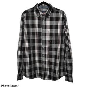 Ecko Unltd. Black White Plaid Button Down Shirt M